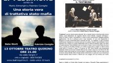 """Cari lettori e appassionati di Teatro, Vorrei consigliarvi uno spettacolo ,che si terrà nella città di Roma il 13 ottobre alle ore 21:00 al Teatro Quirino di Roma. """"Il testimone""""con..."""