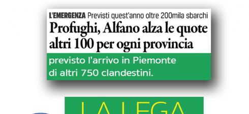 """Torino, 7 maggio 2015 """"Saremo davanti alla Prefettura per dire 'no' alla decisione del ministero dell'Interno di trasferire a Torino e provincia parte dei 9000 nuovi profughi"""": Stefano Allasia e..."""