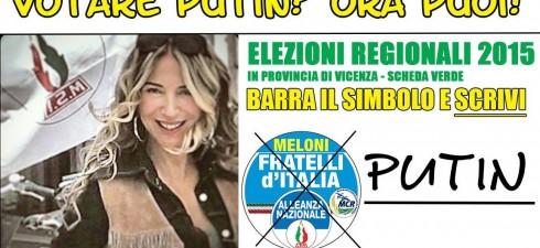 Ovviamente mi sto riferendo ad un Putin nostrano, o per maggior precisione dovrei dire ad una PUTIN. Si, perché nelle prossime elezioni regionali che si terranno in Veneto, il partito...