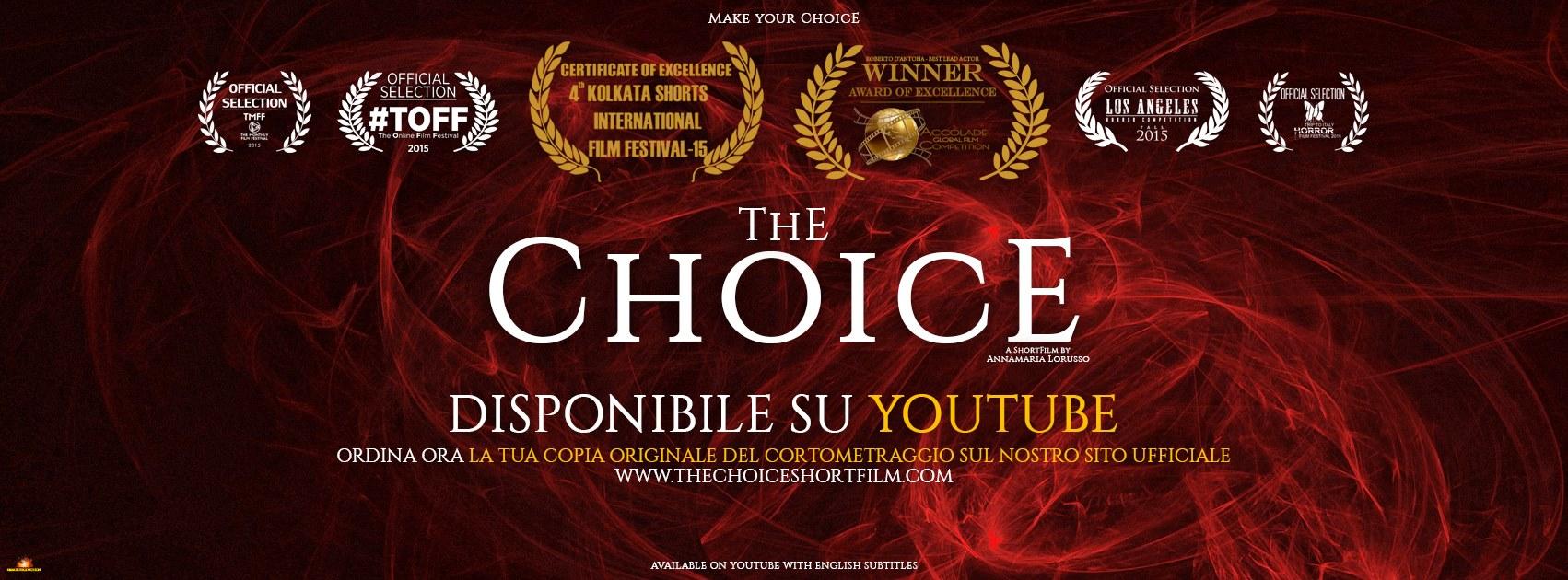 """Il cortometraggio """"The Choice"""" di Annamaria Lorusso ha vinto (per la sezione corti) la prima edizione del Torino Comics Horror Fest. Continuano gli straordinari successi del duo Lorusso/D'Antona. Questa volta […]"""