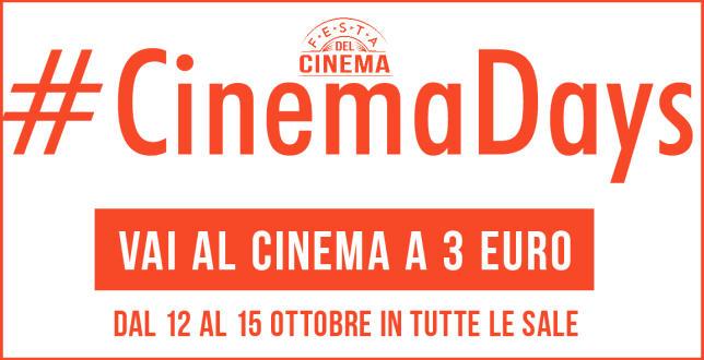 """Torna anche quest'anno il graditissimo appuntamento con i """"Cinema Days"""". Da domani fino a giovedì 15il biglietto inmoltissimi cinema italiani costerà solo 3 euro (escluso 3D).Sarà quindi l'occasione per godersi […]"""