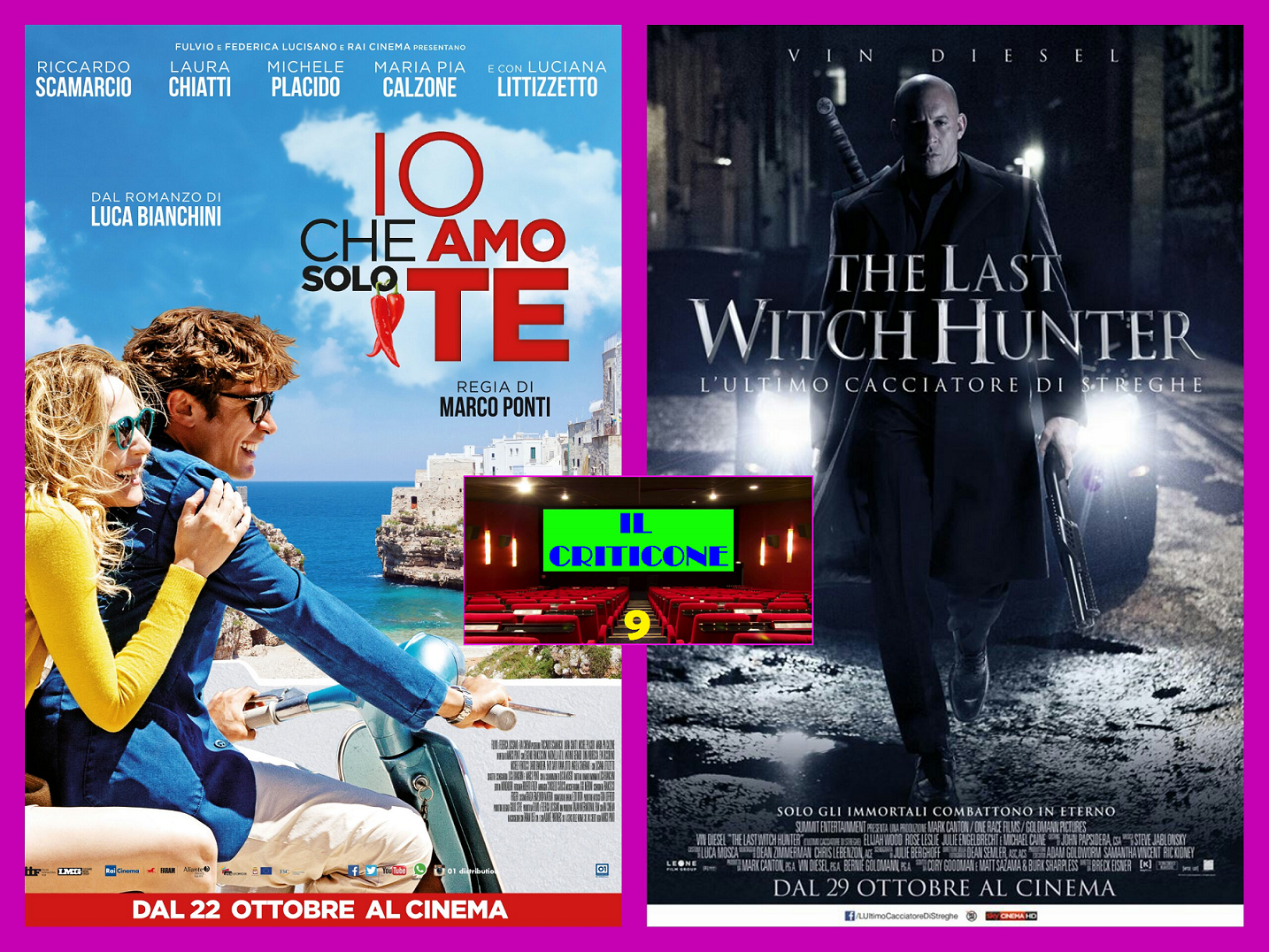 "Nuova puntata de ""Il Criticone"". Oggi parleremo del film italiano ""Io che amo solo te"" e dell'americano ""The last witch hunter"".   IO CHE AMO SOLO TE L'ennesima commedia italiana girata in […]"