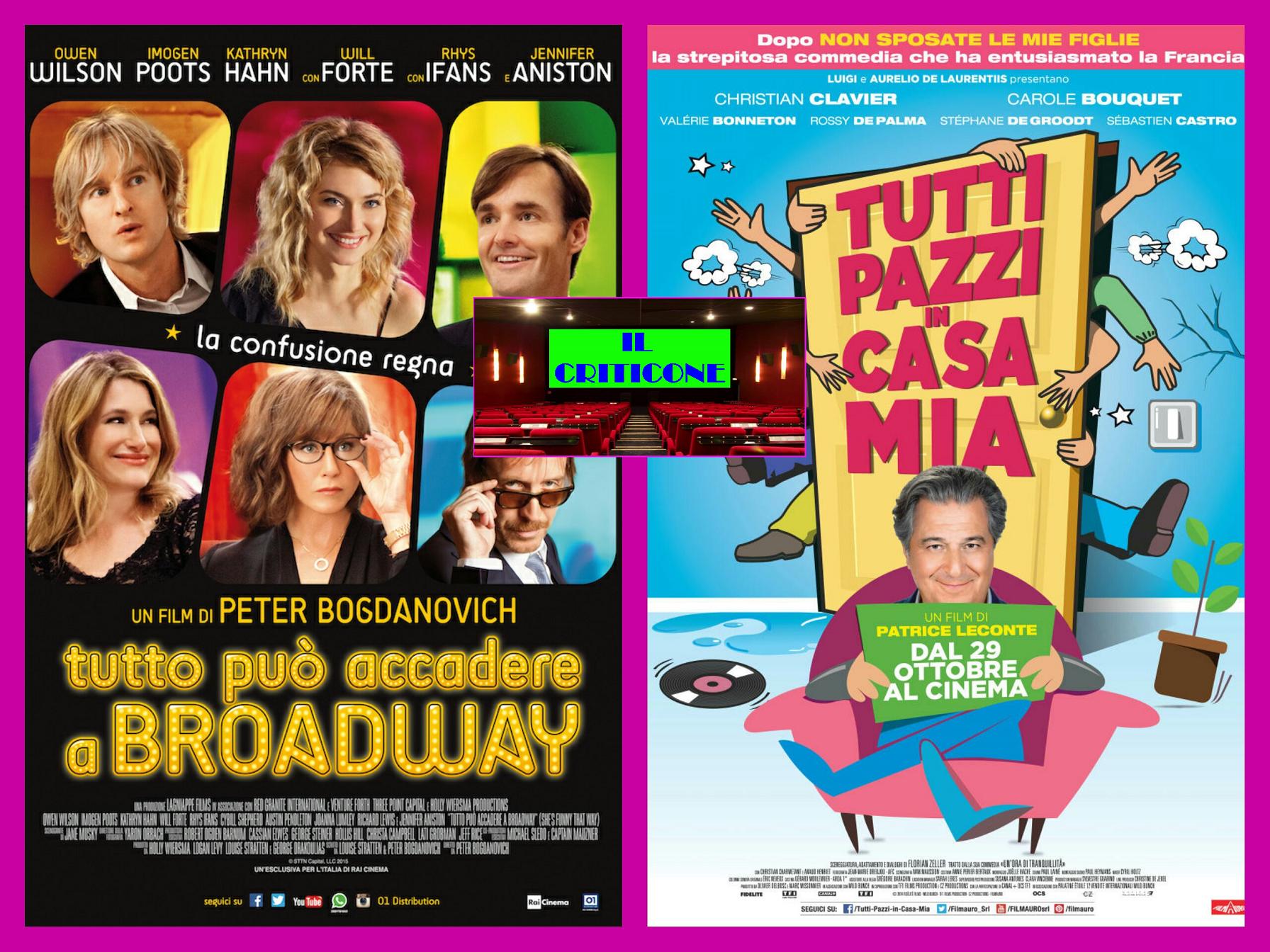 """Nuova puntata della rubrica """"Il Criticone"""" con due commedie degli equivoci come """"Tutto può accadere a Broadway"""" e """"Tutti pazzi in casa mia"""".  TUTTO PUÒ ACCADERE A BROADWAY Il […]"""