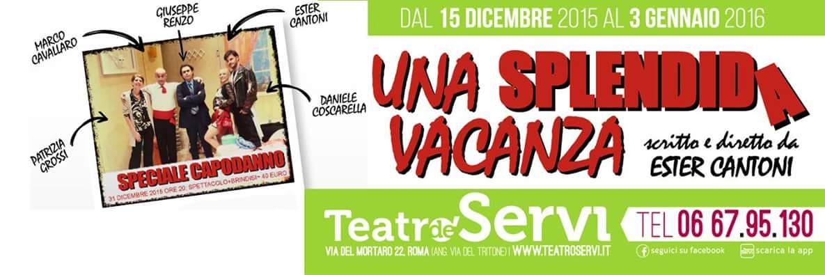 """La Compagnia dei borghi di Parma arriva sul palco del Teatro de' Servi di Roma con una commedia scritta e diretta dalla sua direttrice artistica Ester Cantoni. """"Una splendida vacanza"""" […]"""