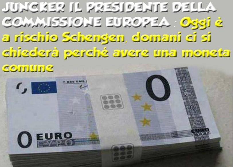 """Juncker: l'Unione europea minacciata Tusk: """"Due mesi per salvare Schengen"""" L'allarme del Presidente della Commissione Ue sui problemi dell'immigrazione: """"Oggi è a rischio Schengen, domani ci si chiederà perché avere […]"""