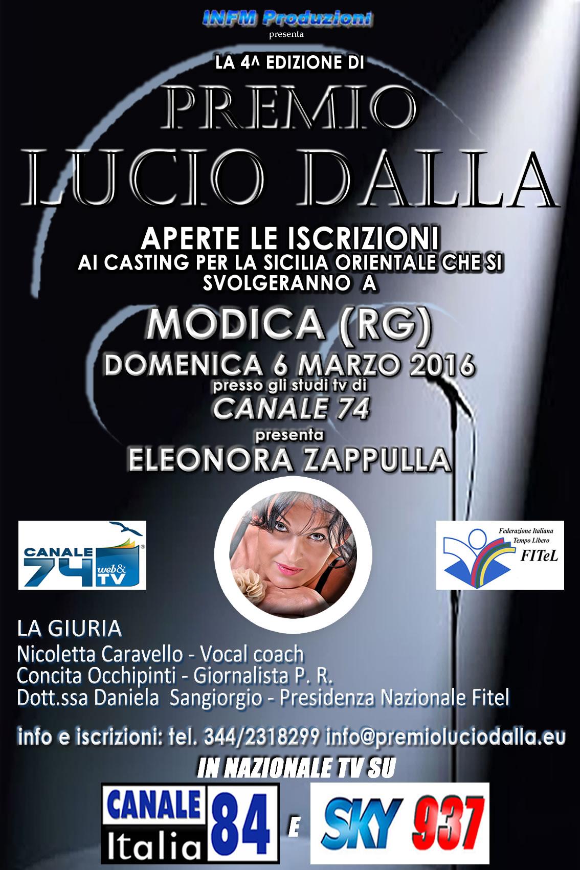 4* Edizione del Premio Lucio Dalla, stavolta nel cuore di Modica Un poeta che ha contraddistinto l'essenza della musica. Una voce trascinante, sconvolgente, memorabile. Quella voce che tocca le corde […]