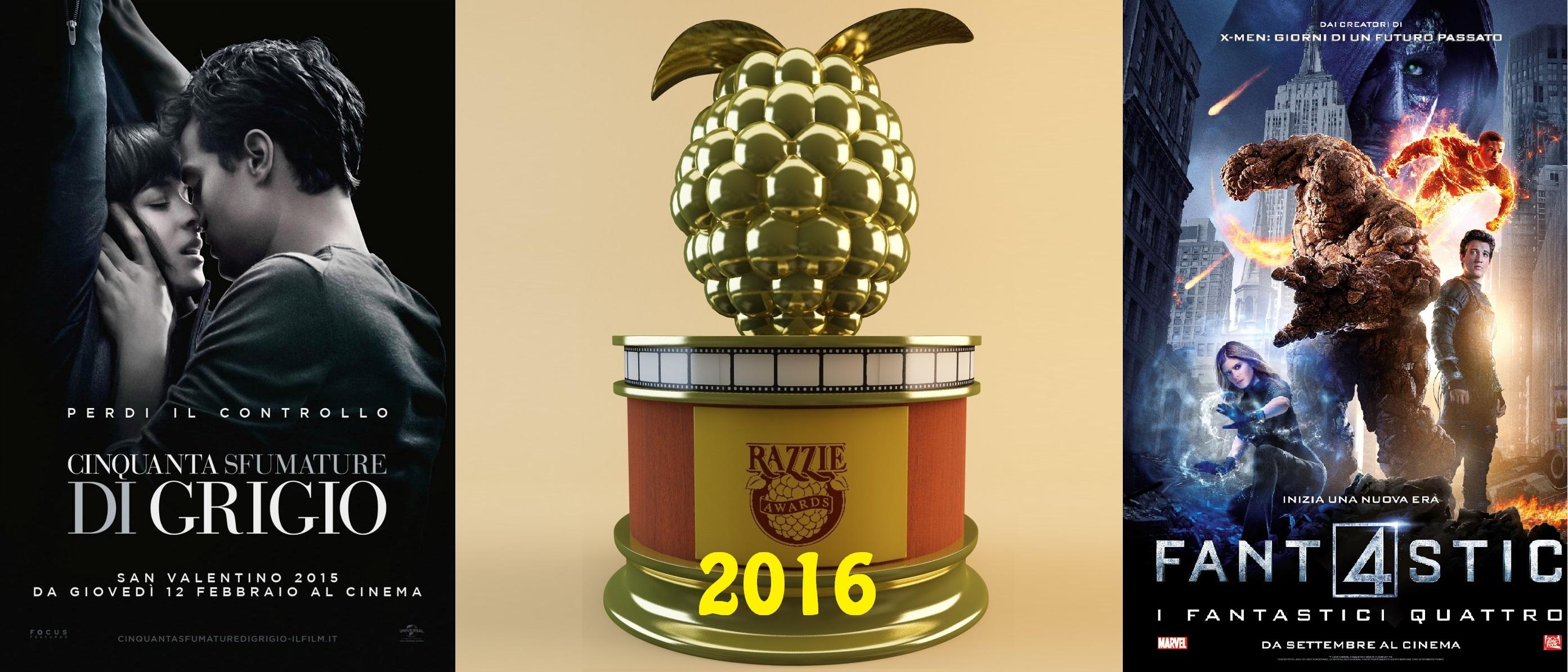 """Annunciati i vincitori dei """"Golden Raspberry Awards"""" 2016, comunemente conosciuti come i Razzies, i premi per i peggiori film dell'anno. Arrivati alla 36a edizione, come da tradizione vengono assegnati il […]"""