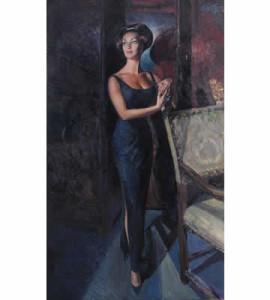 Ritratto di Silvana Pampanini, Paulo Ghiglia olio su tela 200 x 120