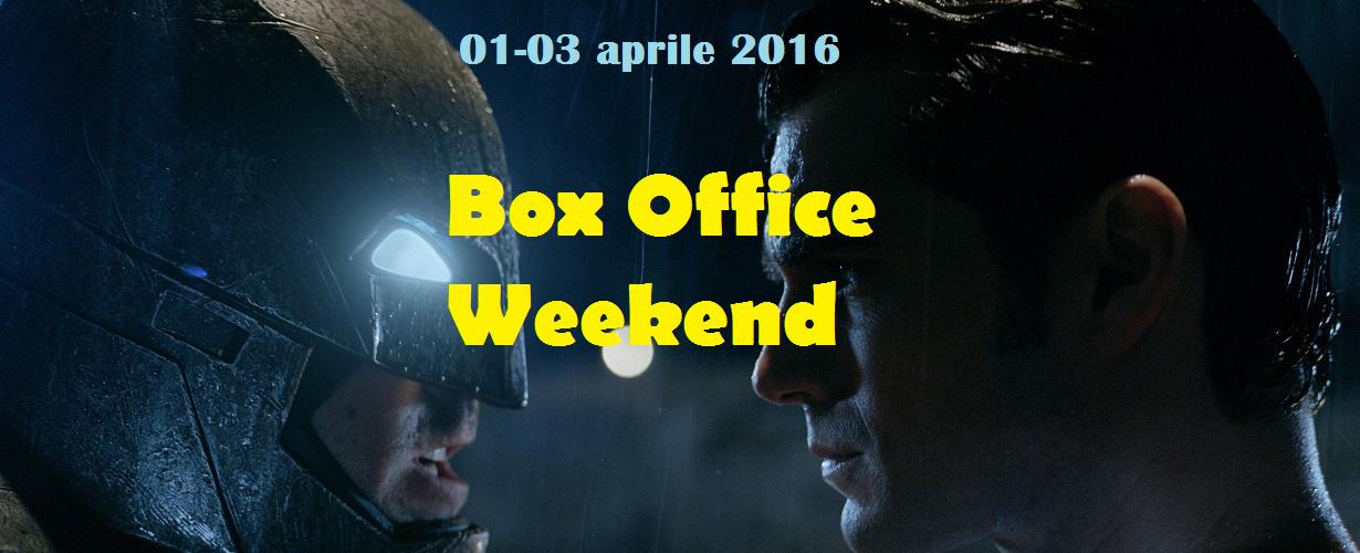 """Primo appuntamento di aprile con""""Box Office Weekend"""" e gli incassi del fine settimana cinematografico. E' ancoralo scontro tra titani""""Batman v Superman: Dawn of Justice"""" a primeggiare nella classifica dei botteghini […]"""