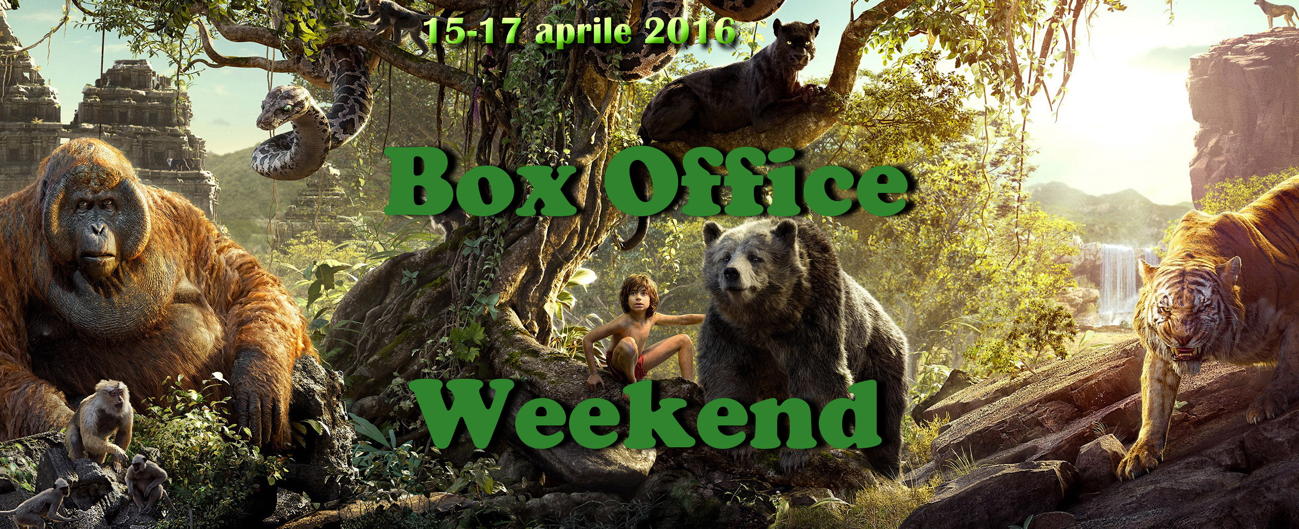 "Nuovo appuntamento con ""Box Office Weekend"" e gli incassi del fine settimana cinematografico. Come ampiamente previsto, la versione live action del classico ""Il libro della giungla"" ha stracciato la concorrenza, incassando nel […]"