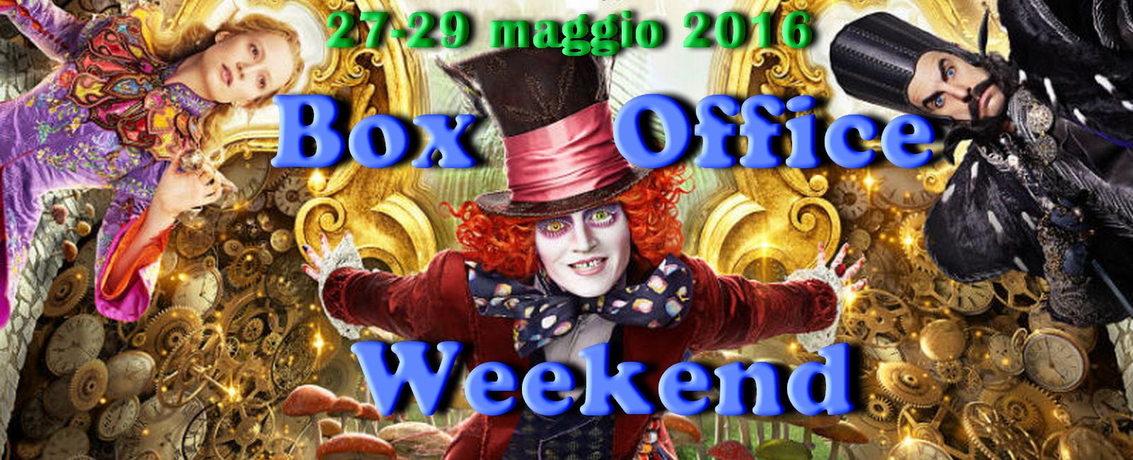 """Ultimoappuntamento di maggio con""""Box Office Weekend"""" e gli incassi del fine settimana cinematografico. Come previsto è """"Alice attraverso lo specchio"""" (leggi la recensione) a conquistare la vetta della classifica, grazie […]"""