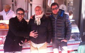Stefano con Luca Rea e Ruggero Deodato