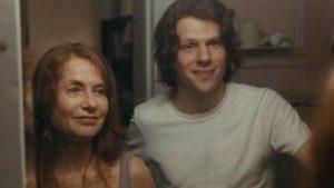 "Isabelle Huppert e Jesse Eisenberg in ""Segreti di famiglia"""