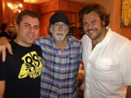 Stefano con Tomas Milian e Andrea Lo Cicero