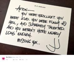 Tweet J.J. Abrams