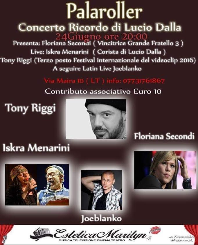 Grande evento musicale il prossimo 24 giugno al Palaroller di Latinaconl'imperdibile concerto del poliziotto rock Tony Riggi.A fare da madrina della serata Iskra Menarini con il suo ricordo al miticoLucio […]