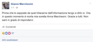 Anna Marchesini annuncio