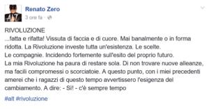 Renato Zero - Rivoluzione Facebook