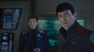 """Anton Yelchin e Zachary Quinto in """"Star Trek Beyond"""""""