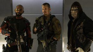 Suicide Squad - Will Smith (Deadshot), Joel Kinnaman (Rick Flag) e Adewale Akinnuoye-Agbaje (Killer Croc)