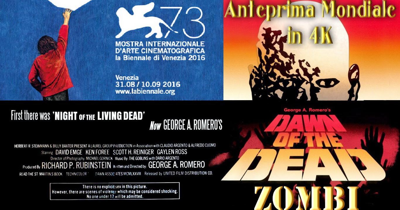 Sarà proiettata a mezzanotte di venerdì 2 settembre, in Sala Giardino (Lido di Venezia) in prima mondiale la copia rimasterizzata in 4K del capolavoro di George A. Romero Dawn of […]