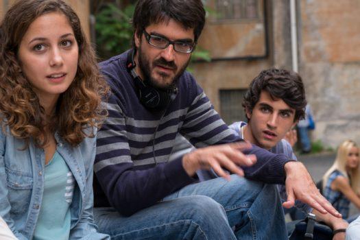 I due protagonisti con al centro il regista Roan Johnson - Piuma