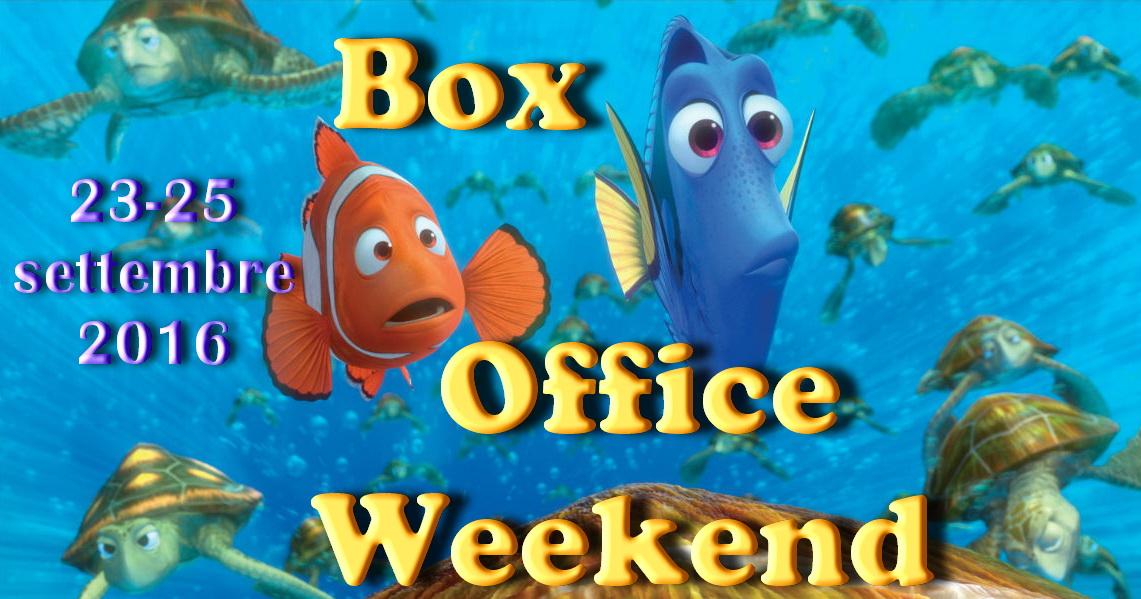 """Ultimo appuntamento di settembre con la rubrica """"Box Office Weekend"""", dedicata agli incassi del fine settimana cinematografico. Prosegue nella seconda settimana di programmazione il successo di Alla ricerca di Dory […]"""