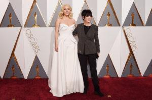 Lady Gaga e Diane Warren agli Oscar 2016