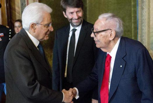 Rondi con il Presidente della Repubblica Sergio Mattarella e con il Ministro Dario Franceschini