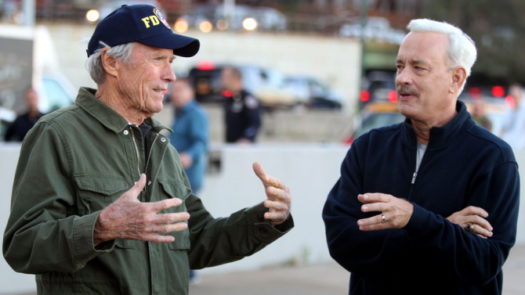 "Clint Eastwood e Tom Hanks sul set di ""Sully"""