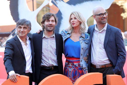 Vincenzo Salemme, Federico Russo, Alessia Marcuzzi e Doug Sweetland sul red carpet
