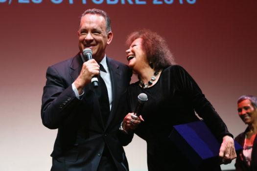 Tom Hanks premiato da Claudia Cardinale (Foto Ruscio)