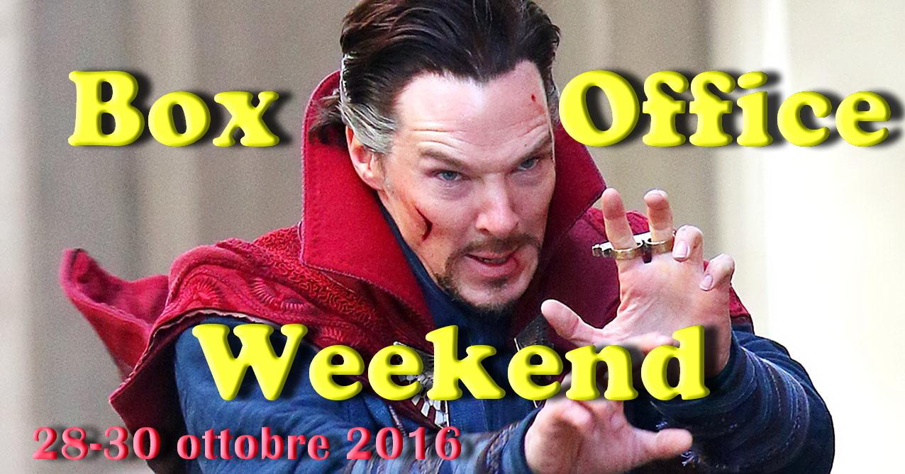 """Ultimo appuntamento diottobre con la rubrica """"Box Office Weekend"""", dedicata agli incassi del fine settimana cinematografico. E' ovviamente il nuovo film targato Marvel, Doctor Strange, ad imporsi in testa alla […]"""