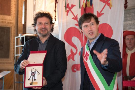 Leonardo Pieraccioni e il sindaco Nardella