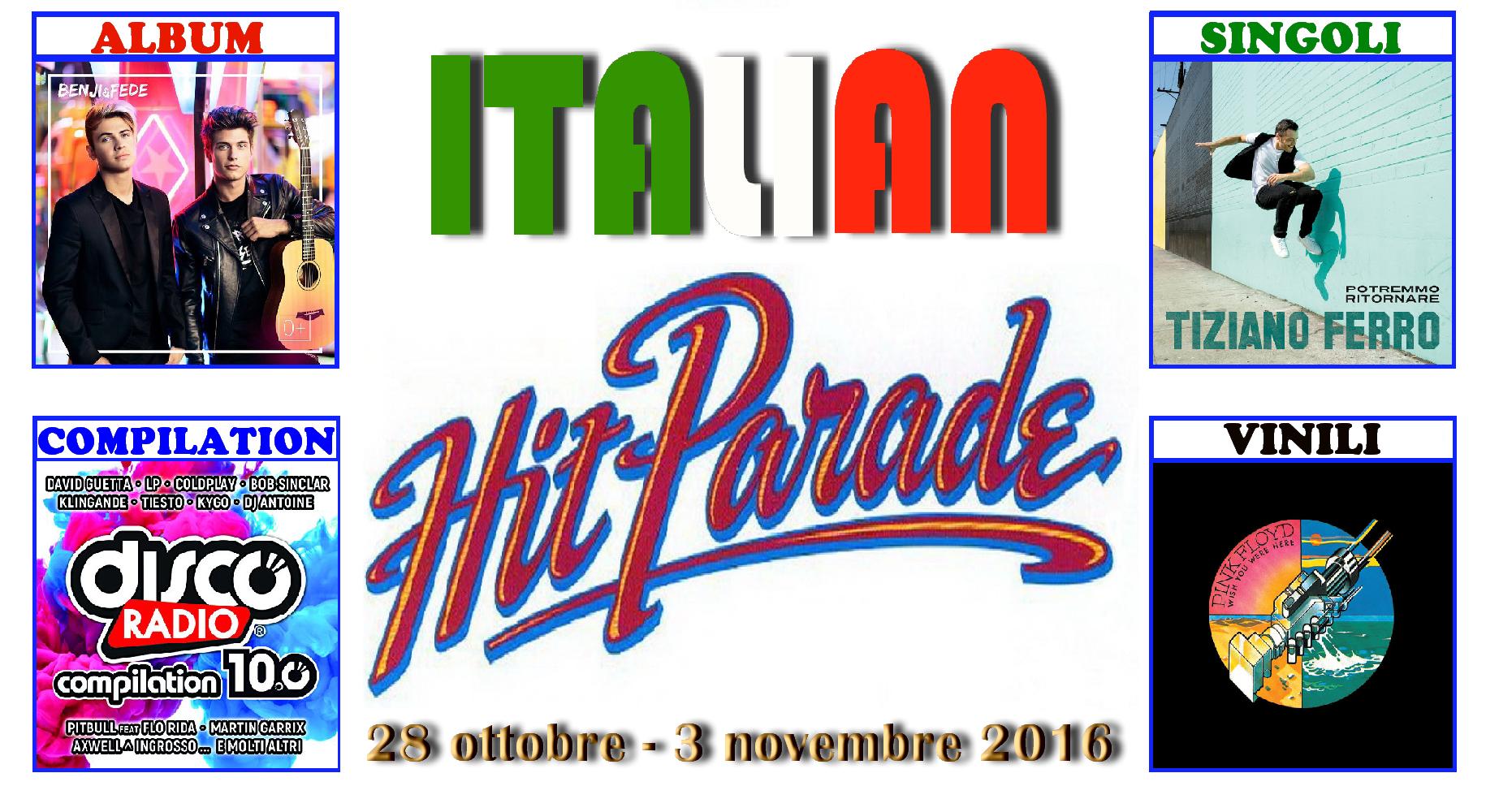 """Primoappuntamento di novembrecon la rubrica """"Italian Hit Parade"""" e le classifiche dei dischi più venduti in Italia. Continua il successo di Benji & Fede che si confermano in vetta con […]"""