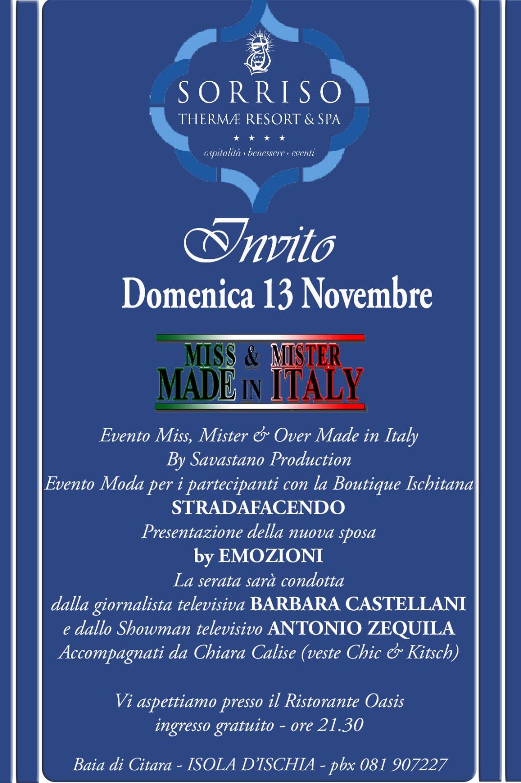 E dunque ci siamo, ancora poche ore e saranno le Finalissime di Miss, Mister e Over MADE in ITALY by: Emilio SAVASTANO Production nella meravigliosa Ischia. Di: Galgano PALAFERRI (ha […]