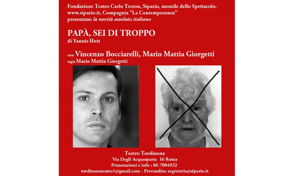Al Teatro Tordinona dal 9 fino al 20 novembre andrà in scena lo spettacoloPapà sei di troppo. E se tutti gli anziani improvvisamente sparissero dalle nostre vite? Nonni, padri: in […]