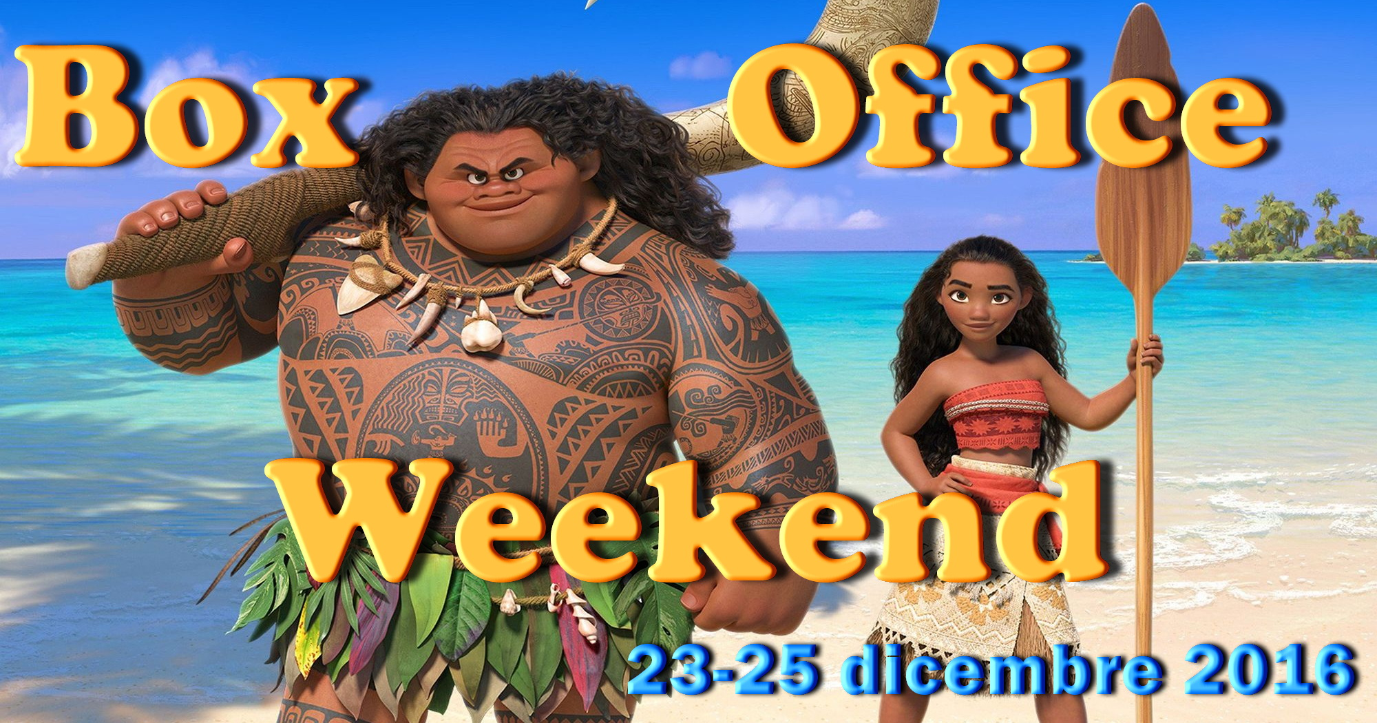 Ultimo appuntamento del 2016 con la rubrica Box Office Weekend e gli incassi del fine settimana cinematografico, con Oceania che batte Rogue One: A Star Wars Story. Disney batte Disney: sembra […]
