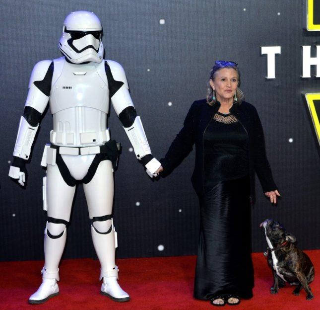 Carrie Fisher alla presentazione di Star Wars ep.VII: Il risveglio della Forza