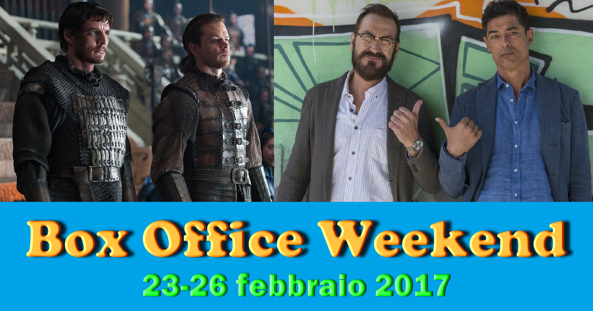 Ultimo appuntamento di febbraio con la rubrica Box Office Weekend e gli incassi del fine settimana cinematografico: testa a testa tra il fantasy The Great Wall e la commedia Beata ignoranza, […]