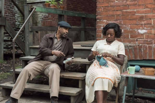 Denzel Washington and Viola Davis in Barriere