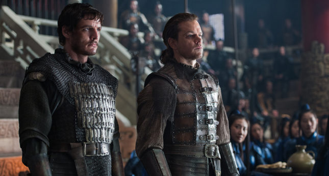 The Great Wall - Pedro Pascal (Pero) e Matt Damon (William)