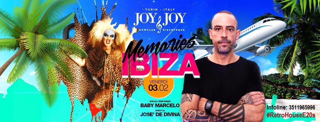"""Venerdì 3.2.2017, tra pochissimo, per """"Memories Ibiza"""", è in programma una 1 Night House assolutamente imperdibile, al Joy&Joy, a Torino, con Josè de Divina <from Circoloco Dc10 Ibiza> Guest Dj […]"""