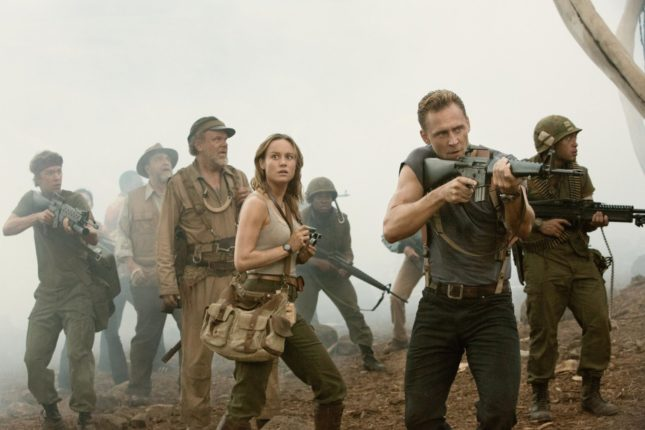 John Goodman, John C. Reilly, Brie Larson, Tom Hiddleston, Eugene Cordero, Thomas Mann e Jason Mitchell in Kong: Skull Island