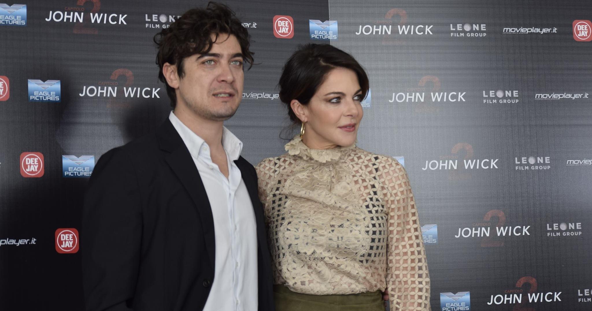 Riccardo Scamarcio e Claudia Gerini - John Wick - Capitolo 2