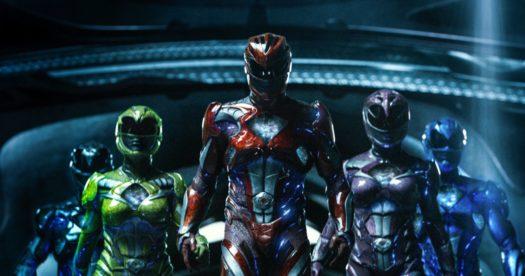 Becky G., Dacre Montgomery, Naomi Scott, Ludi Lin, e RJ Cyler in Power Rangers