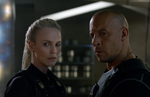 Charlize Theron e Vin Diesel in Fast & Furious 8