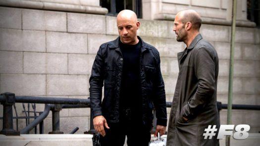 Vin Diesel e Jason Statham in Fast & Furious 8