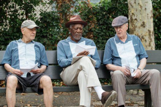 Alan Arkin, Morgan Freeman e Michael Caine in Insospettabili sospetti