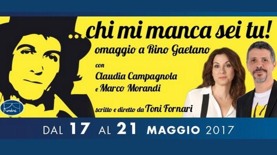 Marco Morandi e Claudia Campagnola fanno rivivere il mito di Rino Gaetano nel concerto spettacolo …Chi mi manca sei tu!di Toni Fornari. Rino Gaetano e la fan …Chi mi manca […]